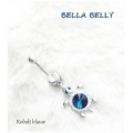 Bella Belly - Chirg. Staal / Navel Piercings Crystal TURTLE - Kobalt blauw