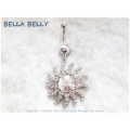 Bella Belly - Chirg. staal / navel piercings crystal SUN
