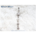 Bella Belly - Chirg. staal - navel piercings crystal STARS