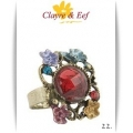 Clayre & Eef - Ring - Rechthoek - Multi Color Rond