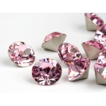 Behave - Swarovski Elements-  Oorsteker - 9mm - Crystal & Light Rose