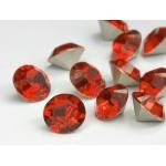 Flower Girl - Sterling 925 Zilver Oorstekers - Div. Maten - C.Tomato Red - Swarovski Elements