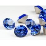 Het Appeltje - Sterling Zilver 925 - Oorstekers - Heart with Stone - Cobalt (blauw)