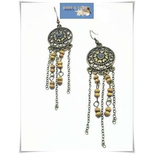 Bibi Love Bijoux Boho Lange Oorhangers Metal Beads