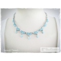 Mme Paul Charvet - Swarovski Elements Collier - Aquamarine