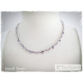 Mme Paul Charvet - Swarovski Elements Collier - Light Amathist / Tanzanite / Violet