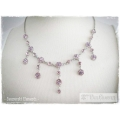 Mme Paul Charvet - Swarovski Elements Collier - Light Rose / Tanzanite