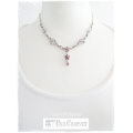 Mme Paul Charvet - Swarovski Elements Collier - Roze / Tanzanite