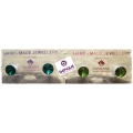 Behave - Swarovski Elements - Oorsteker - 9mm - Light Emerald & Olivine