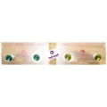 Behave - Swarovski Elements - Oorsteker - 6mm - Light Emerald & Olivine