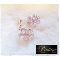 Prestige / France - 18k. Gold-plated oorclips - Bloem / Roset - Swarovski elements