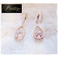 Prestige / France - 18k. Gold-plated Oorhangers - Druppel - Swarovski elements