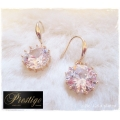 Prestige / France 18k. Gold-Plated Oorhangers - Big Stone - Swarovski elements