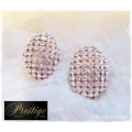 Prestige / France 18k. Gold-Plated Oorstekers - Ovaal - Swarovski elements