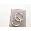 Het Appeltje - Sterling Zilver 925 - 15 of 18 mm / 2 mm Creolen / Oorringen - ROPE