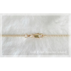 Giovanni - 18k. Gold-Filled Ketting - Gourmet Schakel - 60 cm - 2.1 mm