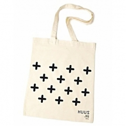 Huus By SEQ - Katoenen Tas / Shopper Met Tekst - + + + + + + + +