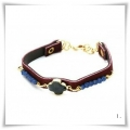 Indian Delight - armband Beads & Imm. Leer - Diverse Kleuren
