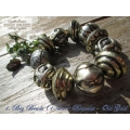 Indian Delight - Grote Kralen Brons Look Armbanden