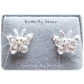 Pretty Little Ladies - Sterling 925 zilver - Oorstekers  - Vlinder - diverse kleuren Crystal