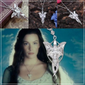 Arwen's ketting met Evenstar hanger (Swarovski crystal elements) - The Lord of the Rings