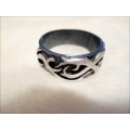 Aqua Line - Men of Thumb Rings - Steel In Style - FLAME
