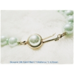 Giovanni / Perlas De Mallorca (Colour Injected) Ketting - 18k. Gold- Filled - 7 Mm - Pastel Green