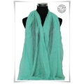 MB - Menthol with Gold Lurex Thread - Foulards à la Mode / Dames Shawls