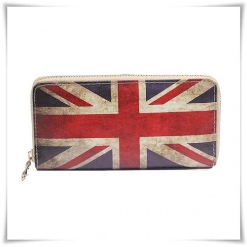 Hippe Portemonnee.New Rebels Hippe Grote Portemonnee Union Jack Gb Flag 19 X 11 Cm