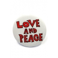 Going Retro - Trendy Button - Love and Peace