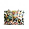 Going Retro - Strandtas - Shopper  - Bloemen - Groen