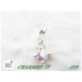 Charmed It Beads - hanger 4-stip met crystal (diverse kleuren) #078
