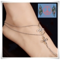 From BIBI With Love - Barefoot Sandals - Gerhodineerde Voetsieraad - Chinese Knoop