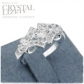 Giovanni - Sterling 925 Zilver - Classic Statement ring met Swarovski elements