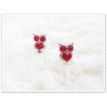 From BIBI with Love - UIL - oorsteker - 1 cm - crystal Rood