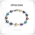 Otracosa - Stainless Steel - Evil Eye / Matiasma / Nazar / Oog Van Fatima - Multi Color Wit