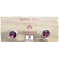 Behave - Swarovski Elements - Oorsteker - 6mm - Amethyst
