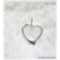 Giovanni - Sterling zilver - ketting hanger Open Hart 1,5 cm
