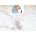 Sara jewelry - Ster ketting - 42cm - Zilver look